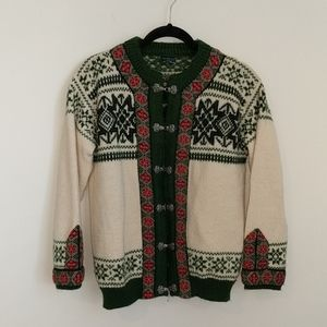 Dale of Norway Traditional 100% Wool Cardigan